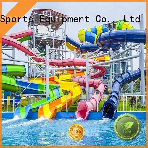 open tube water slide swimming pool for hotel