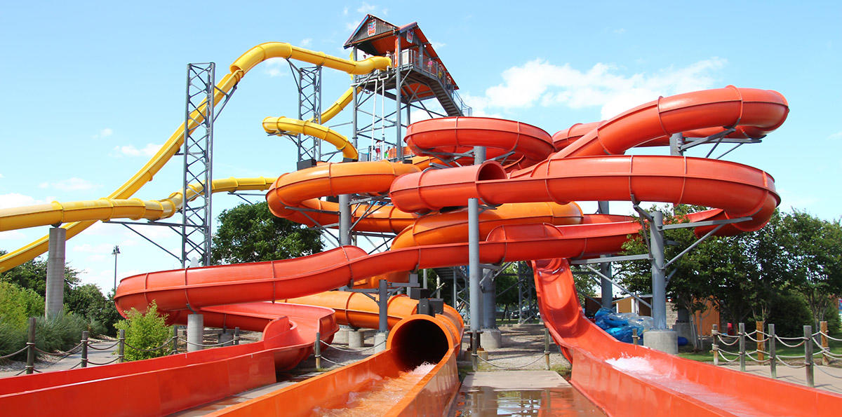 Wholesale fiberglass holiday water slide ride Wenwen Brand