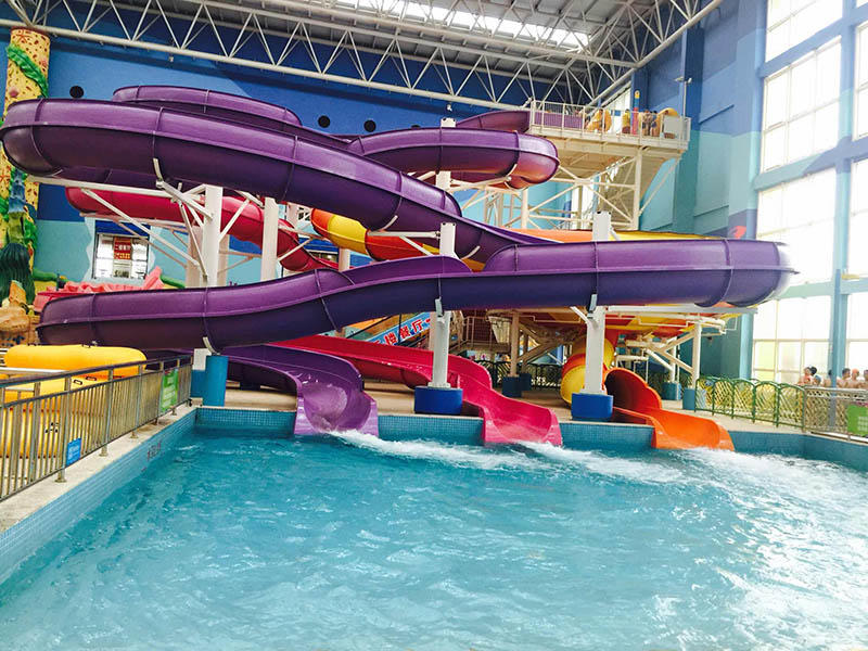 theme Custom spiral water slide race fiberglass Wenwen