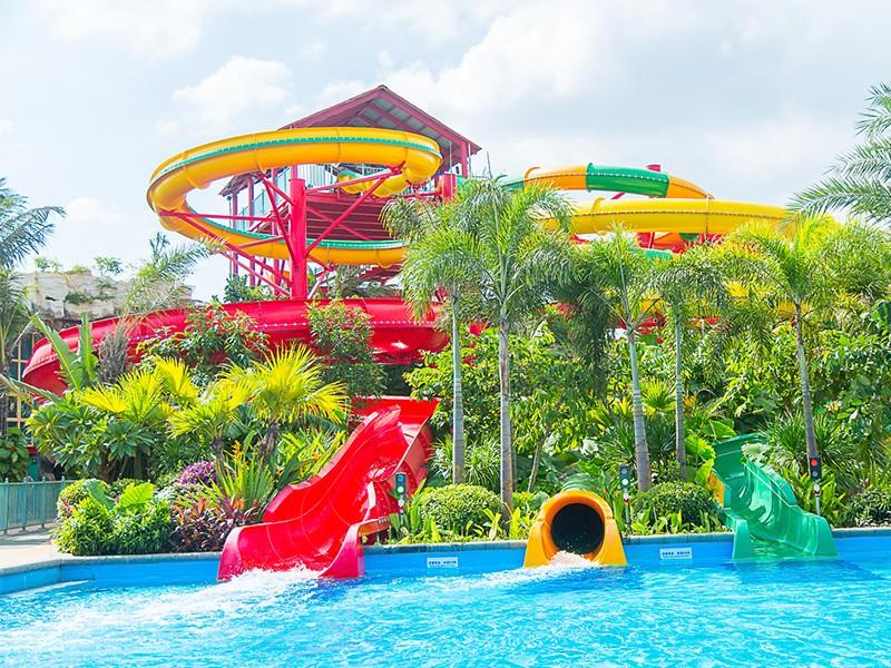 spiral Custom fiberglass hotel water slide race Wenwen resort