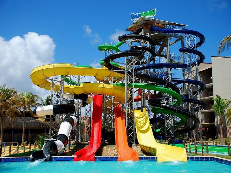 Water Park Equipment Fiberglass Open Spiral Sports Playground Water Slide For Adult