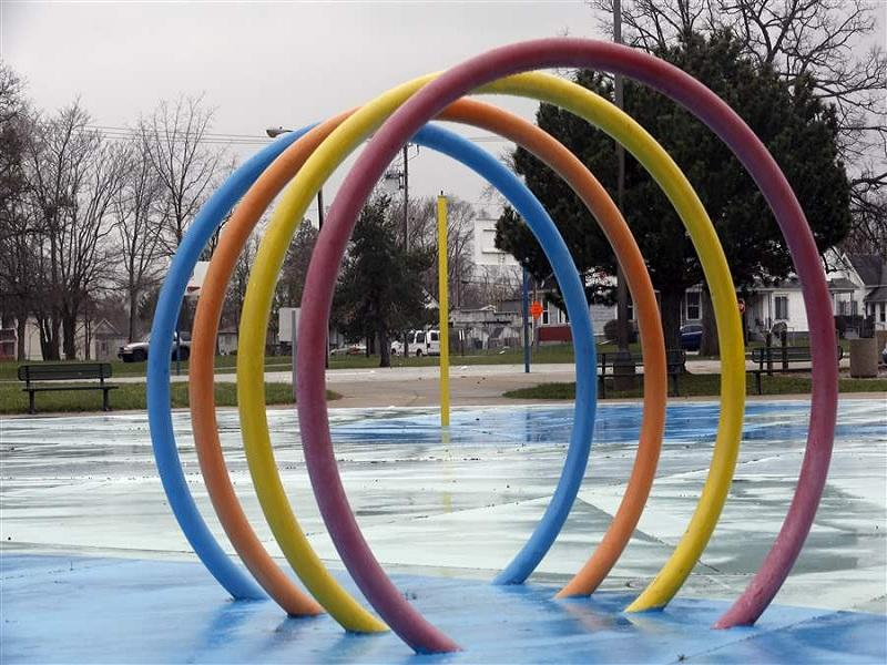 Kids Rainbow Door Aqua Play,Fountains Play Structure For Splash Pad Park