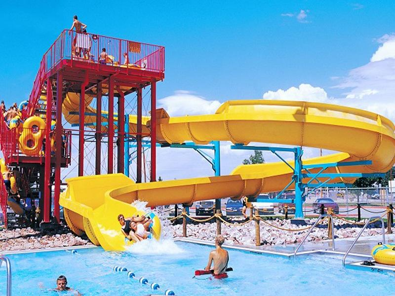 Water Theme Park Family Raft Fiberglass Water Slide Used Swimming Pool Slide