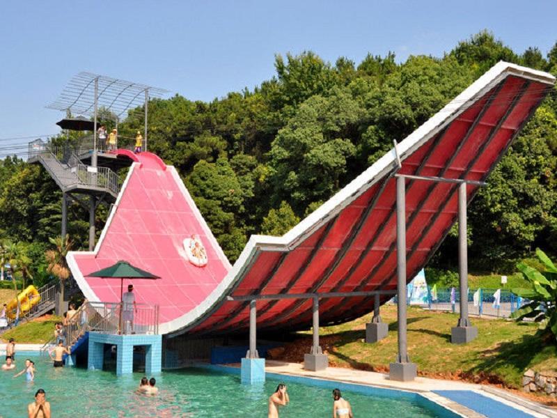 Water Sport Equipment Swing Water Slide Customized Fiberglass Water Slide For Adult