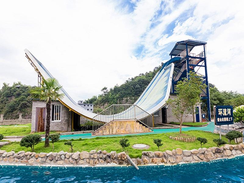 Water Sport Equipment Swing Water Slide Customized Fiberglass Water Slide For Adult