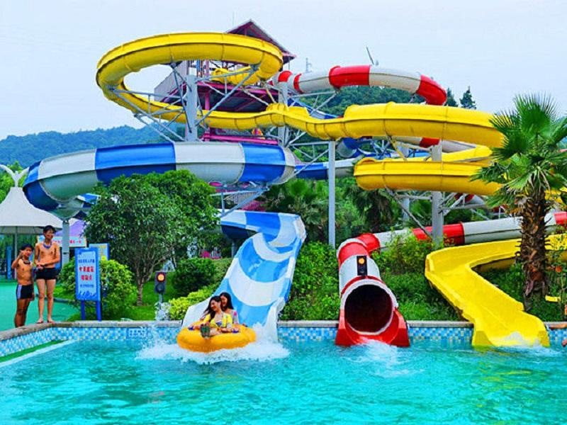 Adult Water Ride Fiberglass Combination Water Slide Design For Water Theme Park