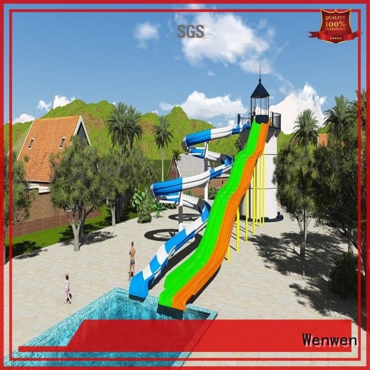 Fiberglass Summer Entertainment Planning And Design Water Park Project Combination slide