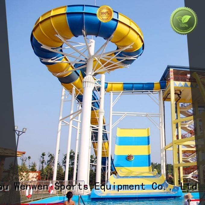 Wenwen giant pool water slide project for hotel
