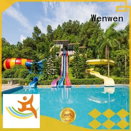 design outdoor water slide run out hotel pool Wenwen Brand