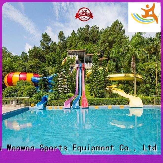 Wenwen good quality water slide outdoor barrel for hotel
