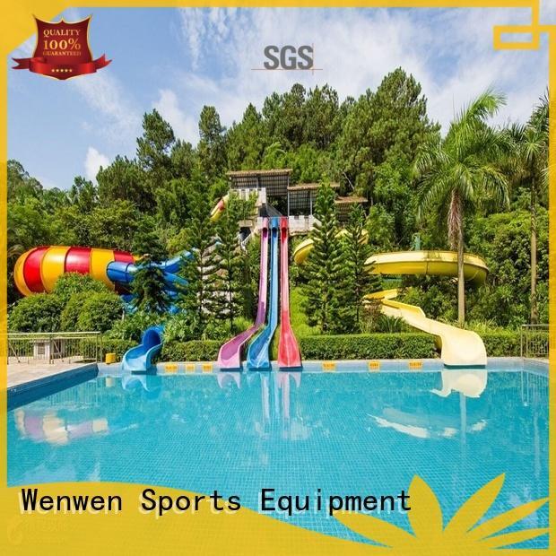 Wenwen fiberglass water slide swimming pool for aqua park