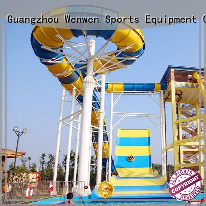 Wenwen pool water slide equipment for resorts