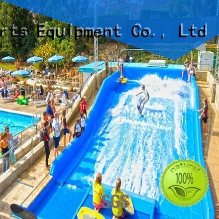 Exciting Flowrider Wave Machine Skateboarding Surfing For Water Park Rides