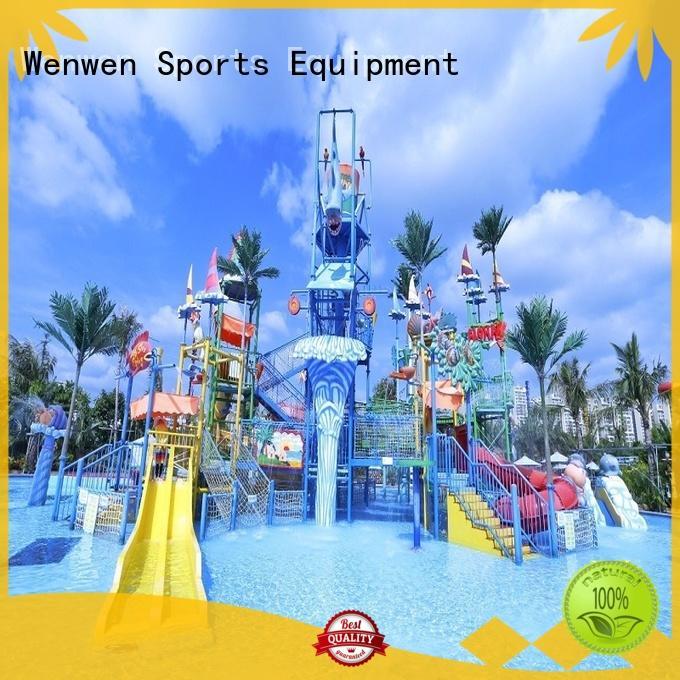 Wenwen huge water parks spiral slide for water park