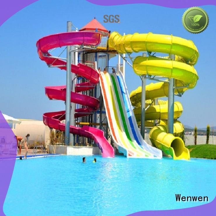 Wenwen planning water slide race combination for hotel