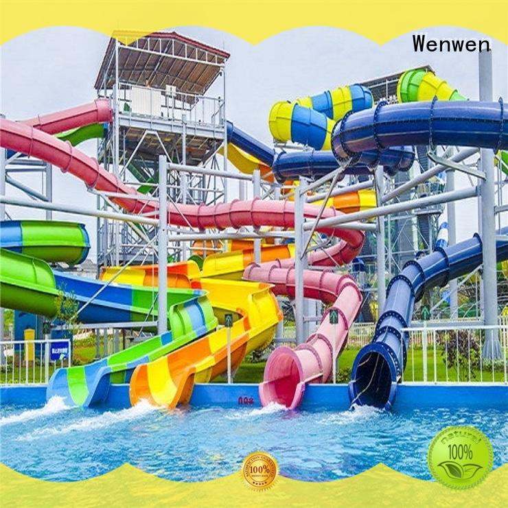 Wenwen fiberglass water slide manufacturers for holiday