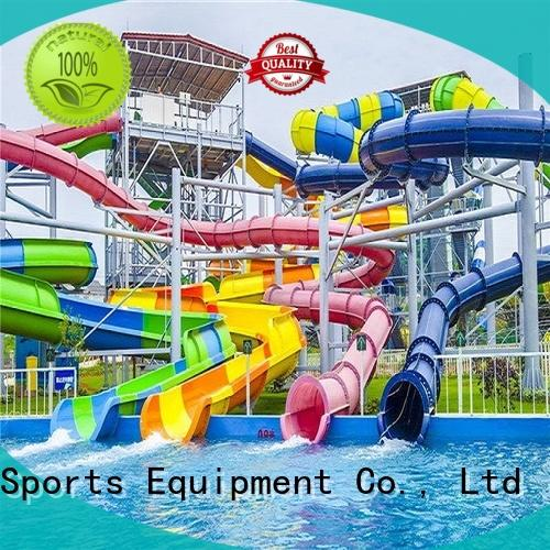 outdoor water slide ride playground for hotel