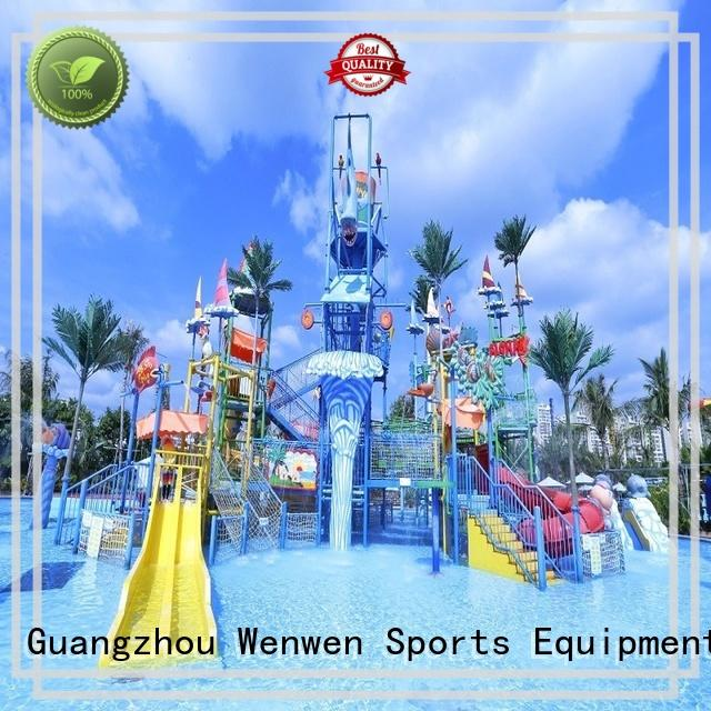Wenwen huge water playground fiberglass for resort
