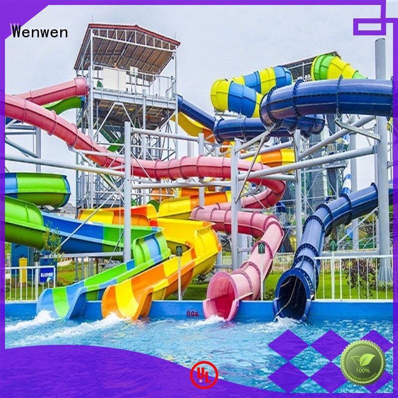 Wenwen wholesale enclosed water slide manufacturers for resort