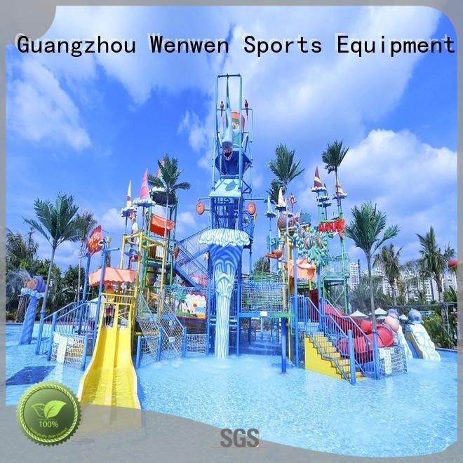 Wenwen aquatic huge water playground equipment for hotel