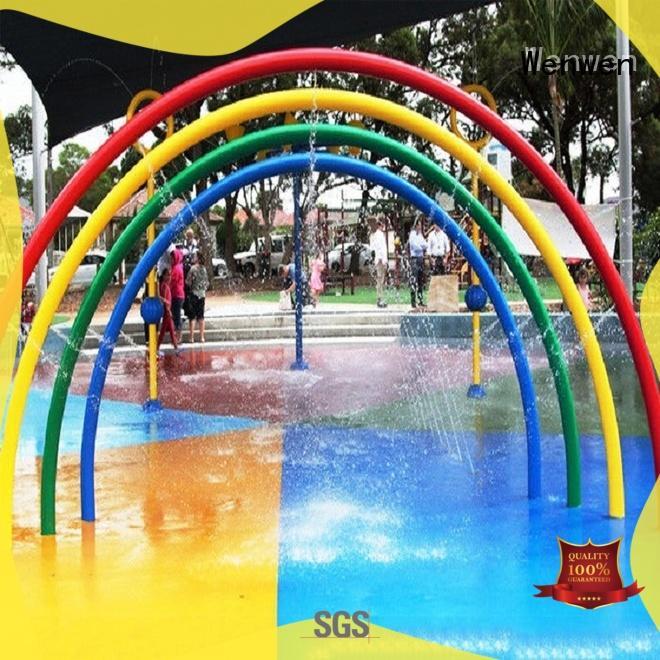 Kids Rainbow Door Aqua Play,Fountains Play Structure For Splash Pad Park