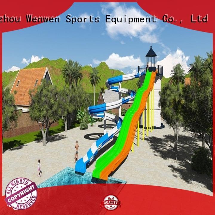 Wenwen planning buy water slide spiral for resort