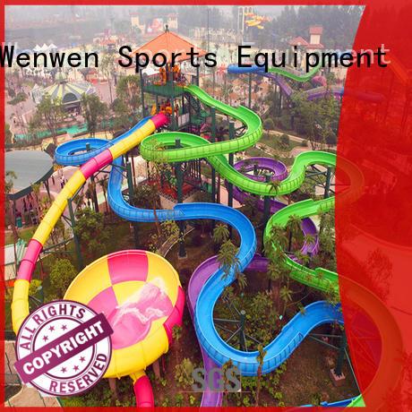 Wenwen fiberglass pool slide for sale summer for hotel