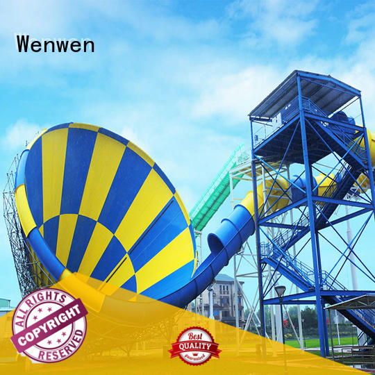 Wenwen huge water slide with funnel adult for water park