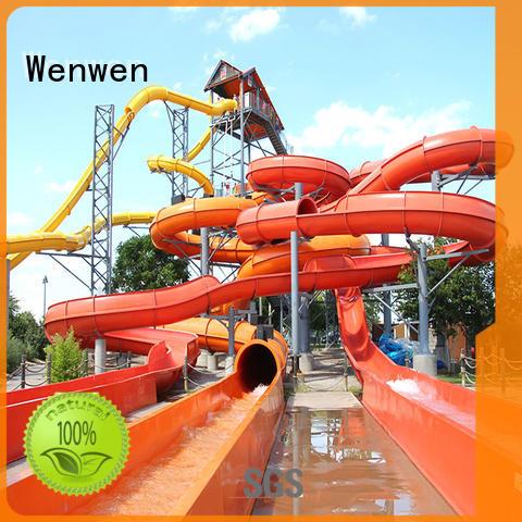 water slide ride swimming pool for resort Wenwen