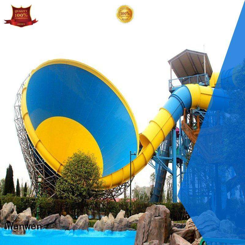 outdoor cheap water slides height for water park