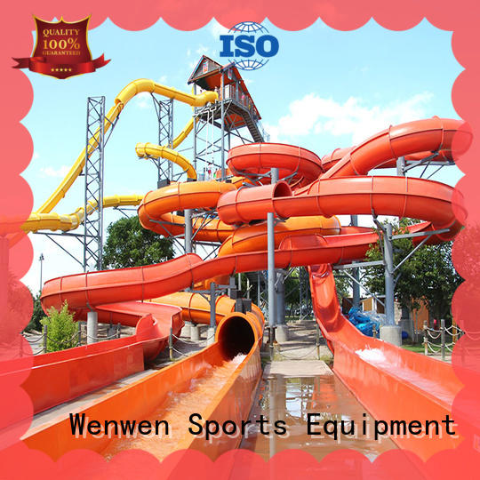 Wenwen spiral water slide ride playground for resort