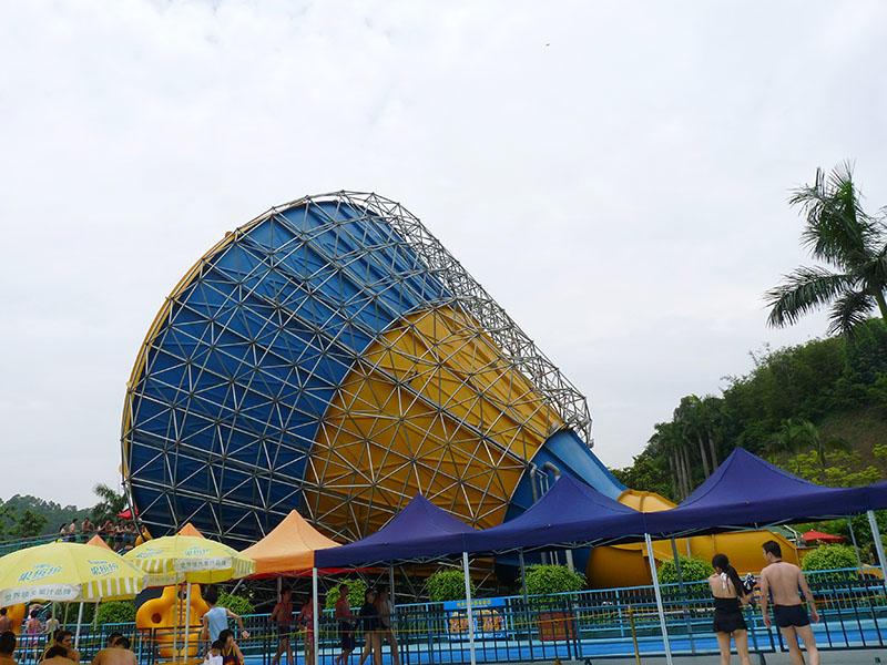 Anti - Fade Big Tornado Water Slide Amusement Water Park Equipment 14.2m Height Tornado Water Slide
