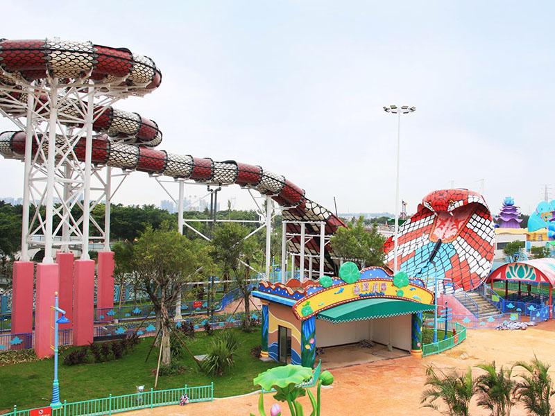 Wenwen Cobra Water Slide Theme Park Commercial Fiberglass Water Slides Cobra water slide image1