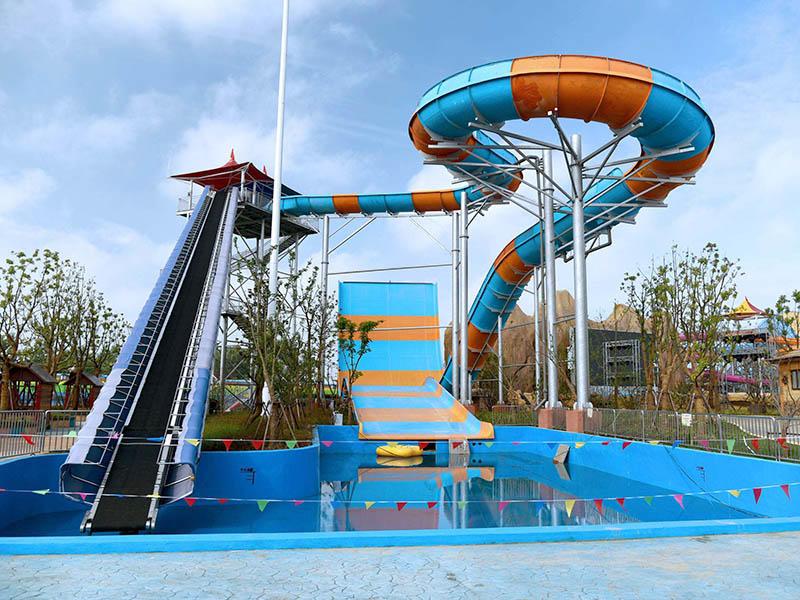 Super Boomerang Water Slide Outdoor Water Slide For Swimming Pool Equipment