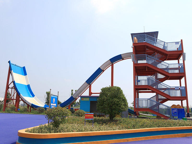 Boomerang Water Slides Commercial Water Park Equipment Fiberglass Slide Project For Resorts