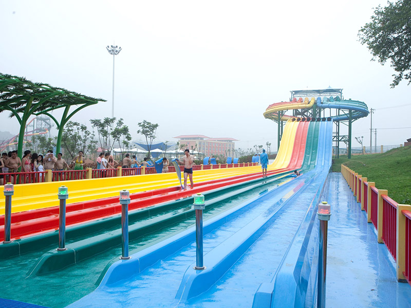 Wenwen Competition Racing FRP slides High-speed Racing Fiberglass Water Slides Large Indoor Outdoor Commercial Water Park Competition water slide image1
