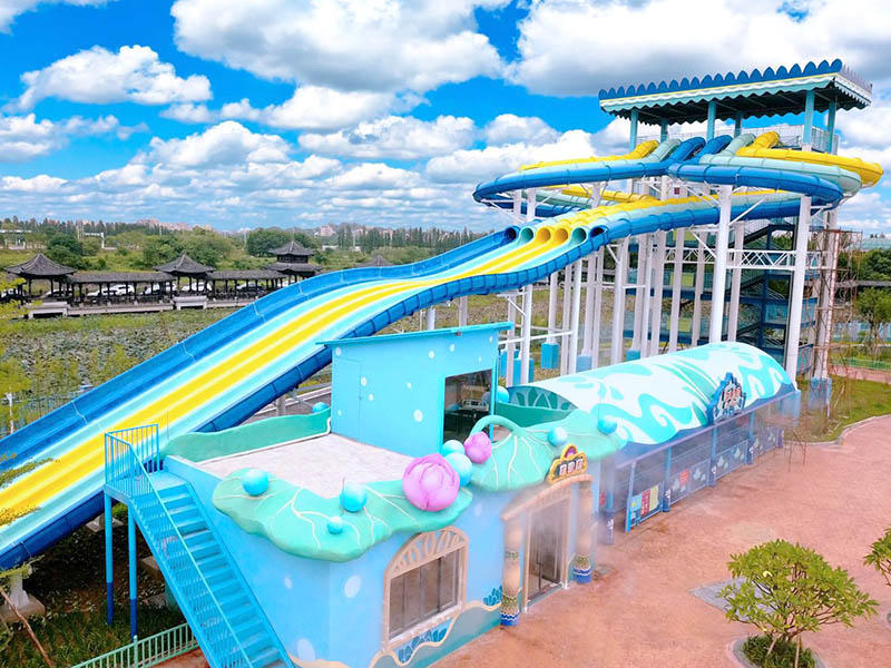 Competition Racing FRP slides High-speed Racing Fiberglass Water Slides Large Indoor Outdoor Commercial Water Park