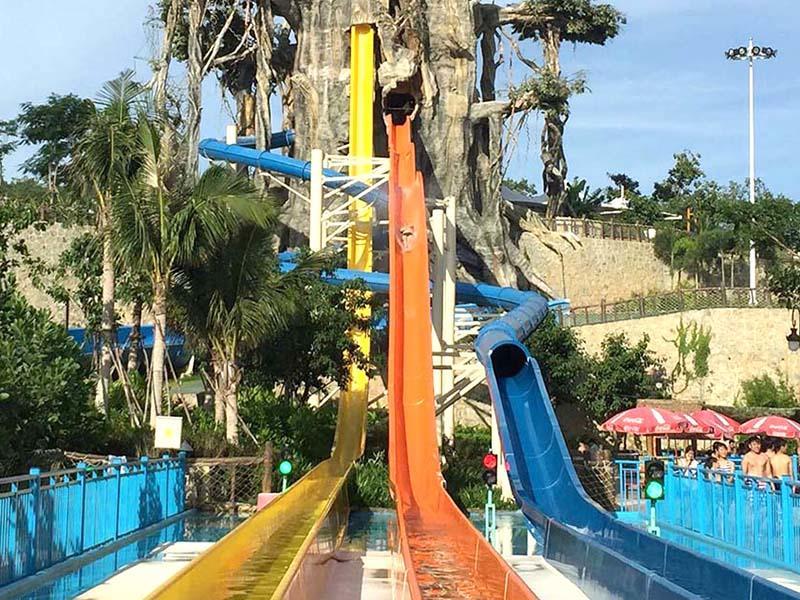 Adult High Speed Water Slides Swimming Pool Slides In Hotel Aqua Park
