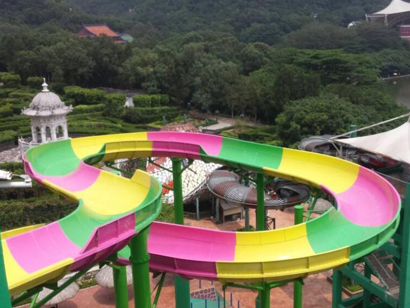 Wenwen Water Park Family Water Slide Commercial Aqua Playground Swimming Pool Water Slides Family water slide image2