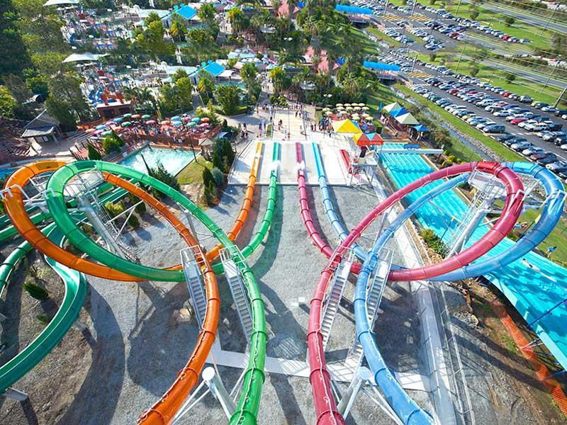 Magic Loop Water Slide Breathless Trilling Water Park Equipment Swimming Pool Fiberglass Slide