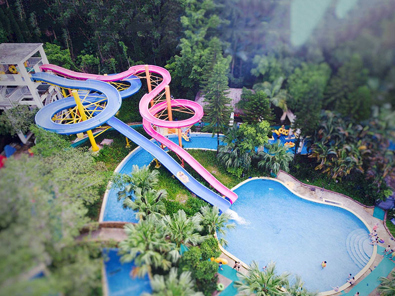 Wenwen Outdoor Aqua Park Spiral Water Slide For Swimming Pool  Adult Fiberglass Water Slide Spiral water slide image4
