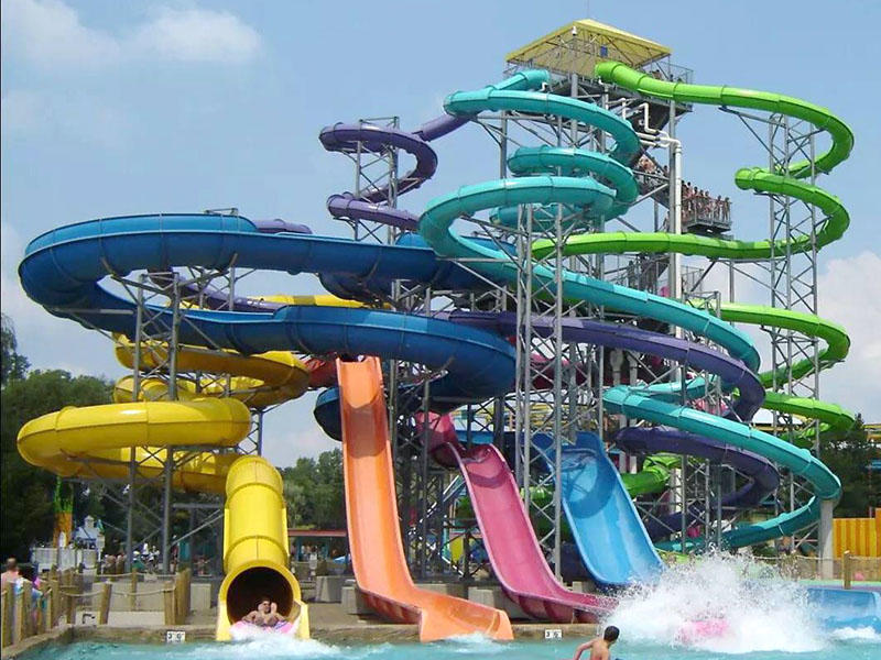 Outdoor Aqua Park Spiral Water Slide For Swimming Pool  Adult Fiberglass Water Slide