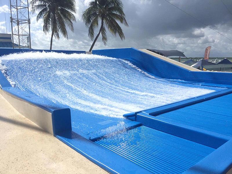 Custom Surfing Water Slides Commercial Water Park Equipment Fiberglass Slide Installation For Adults