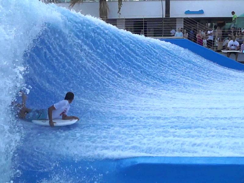 Wenwen Custom Surfing Water Slides Commercial Water Park Equipment Fiberglass Slide Installation For Adults Surfing  water slide image1