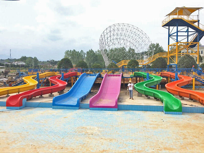 Family Water Slide Fiberglass Swimming Pool Water Slides