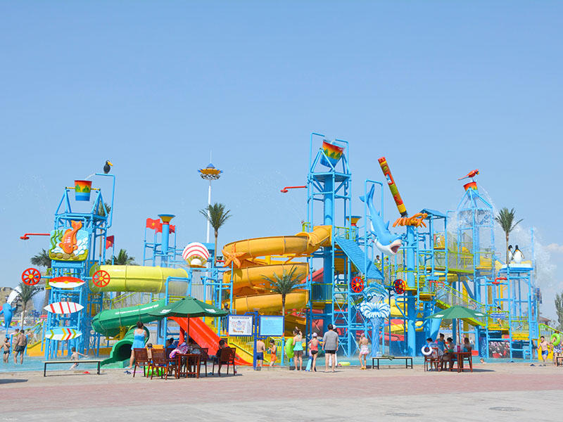 Aquatic Playground Equipment Theme Park Fiberglass Slide For Hotel Resort
