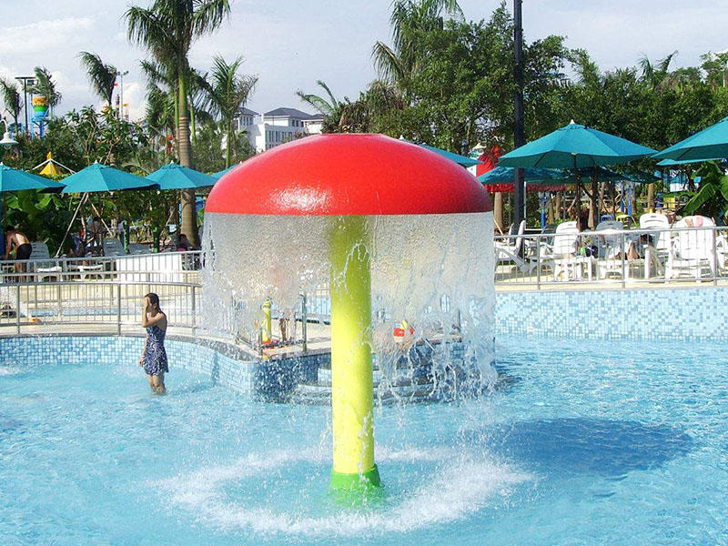 Children Mushroom Flowing Water Playground Water Park Fun Equipment