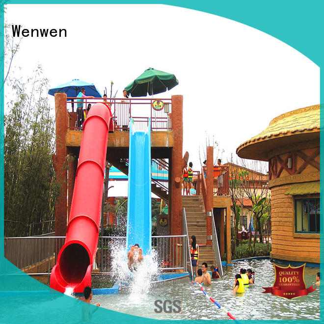 Wenwen commercial water slides sled for water park