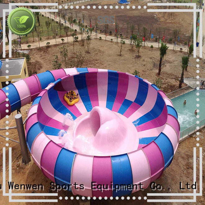 Wenwen Brand amusement big water slides mix factory