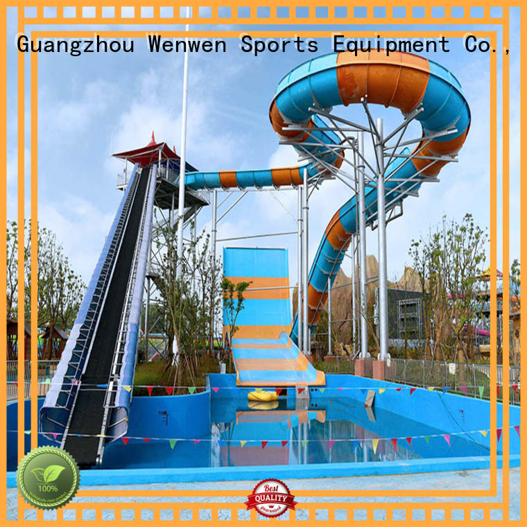 Wenwen Brand fiberglass commercial project water slide and pool